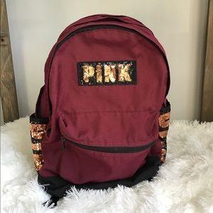 Victoria Secret PINK Sequin Campus Backpack